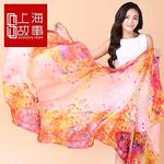 上海故事超100%桑蚕丝大丝巾披肩