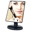 Signstek 16 LED Battery Operated Cordless Touch Screen Lighted Makeup Mirror