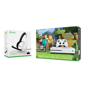 Xbox One S 500GB Console with Minecraft and Headset Bundle