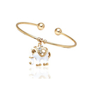 Elephant Charm Cuff Bangles with Swarovski Crystals by Barzel