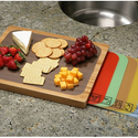 SevilleBamboo Cutting Board and 7 Color-Coded Flexible Cutting Mats