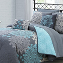 Amber Collection: Reversible Quilt Set (9-Piece)