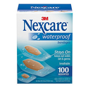 Nexcare Waterproof Clear Bandages Assorted Sizes 100 Bandages