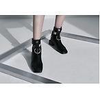 Modern Alchemist圆环装饰踝靴