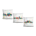 Michael Tompsett Abstract Skyline Splashes Throw Pillow