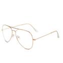 Outray 中性金属透明时尚金丝眼镜