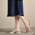Stuart Weitzman Sliderpearl Satin Slide Sandals