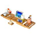 Royal Craft Wood Luxury Bathtub Caddy Tray+ Free Soap Holder