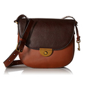 Fossil Emi Saddle Bag - Multi/Brown