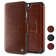 1byone iPhone 6/6s Case Genuine Leather Wallet Stand Folio Case