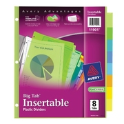 Amazon has Avery Big Tab Insertable Plastic Dividers, 8-Tabs, 1 Set (11901) for $1.99. Free Shipping on orders over $25.