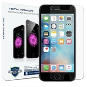 Amazon has iPhone 6S Screen Protector, Tech Armor Apple iPhone 6 (4.7 inch ONLY) HD Clear Ballistic Glass - Maximize Resale Value - 99.99% Clarity and Touchscreen for $7.95. Free Shipping on orders over $35.