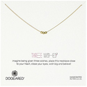 Dogeared Three Wishes Gold-Plated Sterling Silver Necklace