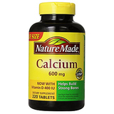 Nature Made 600毫克含维生素D3钙片