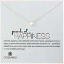 "Dogeared ""幸福之珠"" 纯银珍珠锁骨链"