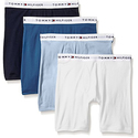 Tommy Hilfiger Men's 4-Pack Cotton Boxer Brief, Multi/Blue, Medium