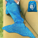 LAGHCAT Mermaid Tail Blanket Crochet