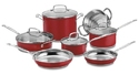 Cuisinart 11 Piece Chef's Classic Stainless Color Series Set, Red