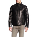 Tommy Hilfiger Men's Stand Collar Classic Leather Jacket
