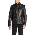 Cole Haan Men's Smooth Lamb Leather Moto Jacket