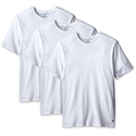 Tommy Hilfiger Men's 3-Pack Cotton Crew Neck T-Shirt, White, Medium
