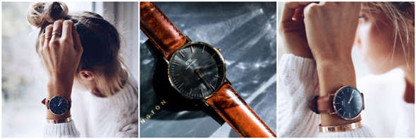 34b18c782e21 Amazon has Daniel Wellington Classic Black St Mawes 36mm for  104.21 plus  free shipping. Item sold by Amazon. Round rose-gold plated Japanese quartz  watch ...