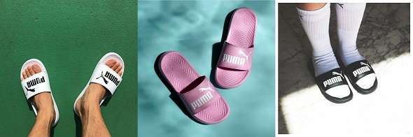 WOMEN S PUMA POPCAT SLIDE SANDALS (Black White Pink)  14.98 was  24.99 40%  OFF d8238b7a7