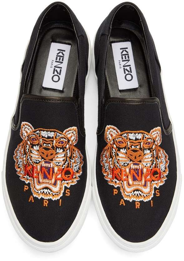 245195302c 30% OFF Kenzo Black Tiger K-Skate Slip-On Sneakers $126 - DealAM.com