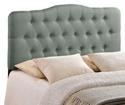 Annabel Full Fabric Headboard in Gray