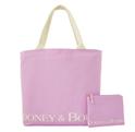 Dooney & Bourke Canvas Reusable Tote W/Zip Pouch