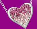 Grab this Heart Necklace with Rose Swarovski Crystal
