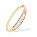 Swarovski Elements Filigree Butterfly Bangle in 18K Gold Plated Brass