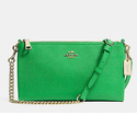 COACH Embossed Texture Leather Kylie Crossbody