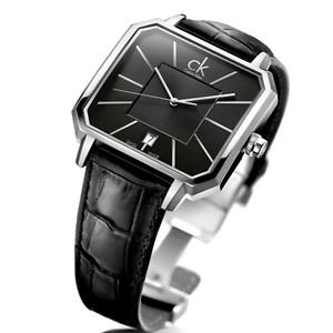 Calvin Klein Concept Black Dial Black Leather Men's Watch