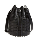 Alexander Wang Alpha Woven Leather Bucket Bag