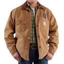 Carhartt Weathered Cotton Duck Chore Coat - College Logo (For Men)