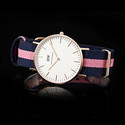 Daniel Wellington Classic Navy and Pink Nylon Ladies Watch