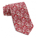 FERRAGAMO Selva Floral Print Red Silk Twill Tie