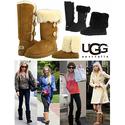 Ugg Australia Bailey Button Triplet Women Suede Winter Boot