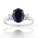 1.60 CTTW Genuine Sapphire Ring in Sterling Silver