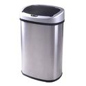 13-Gallon Touch-Free Sensor Automatic Stainless-Steel Trash Can
