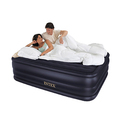 INTEX Queen Raised Downy Airbed Mattress Bed with Built-In Pump
