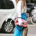Loewe Medium Puzzle Suede Top Handle Bag