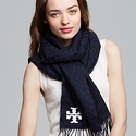 Tory Burch Whiostitch T Scarf