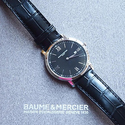 Baume and Mercier 名士克莱斯麦臻薄男士手表