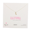 Dogeared State Of Mind California Necklace 18""