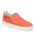 Ash Intense Embossed Leather Slip-On Sneakers