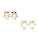 Crystal Owl Stud Earrings with Swarovski Elements