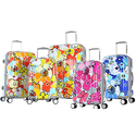 "Olympia USA ""Blossom II"" 100% Polycarbonate Luggage Set (3-Piece)"