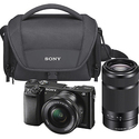 Sony - Alpha a6000 Mirrorless Camera with 16-50mm and 55-210mm Lens Kit